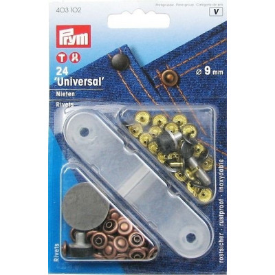 Set 24 riveti tubulari si ustensile - 403102