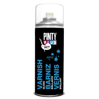 Lac spray pe baza de apa Pinty Plus Art 400ml