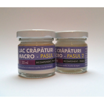 Lac de crapare Bicomponent Mustash 30ml - Macro