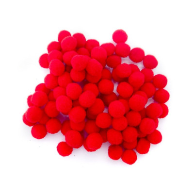 Pom pom rosu 10mm set 100bc