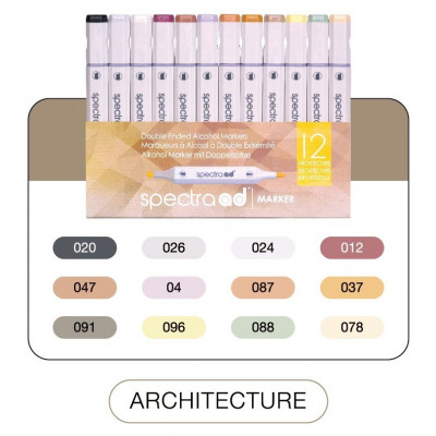 Spectra ad Marker ARCHITECTURE 12 Color Set
