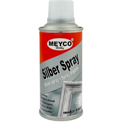 Spray color argintiu 150 ml Meyco