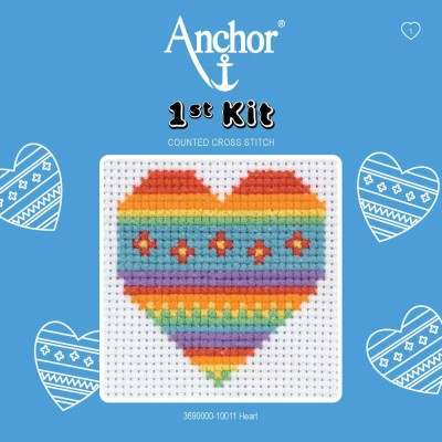 Set broderie Anchor Inima