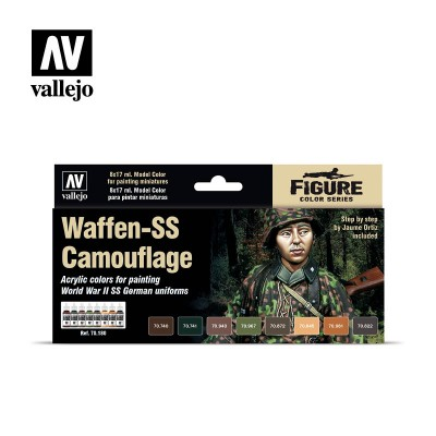 Model Color Set - Waffen SS Camouflage - Vallejo 70180