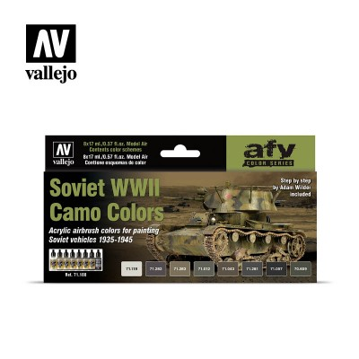Model Color Set - Soviet WWII Camo Colors - Vallejo 71188