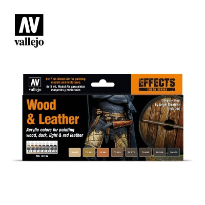 Model Color Set - Wood and Leather - Vallejo 70182