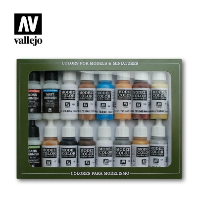 Model color Set Folkstone Basics VALLEJO 70101