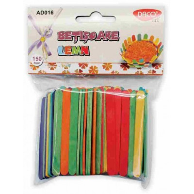 Set betisoare lemn colorate AD016