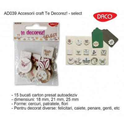Set forme carton presat autoadezive - model Select AD039