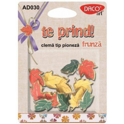 Set cleme tip pioneza - model frunze AD030