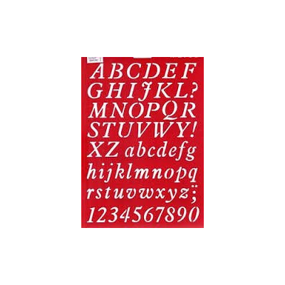 "Sablon plastic ""Cursive Writing""66052"