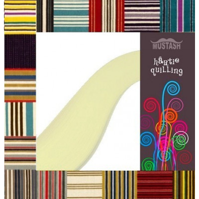 Hartie quilling Mustash 5mm Galben pal
