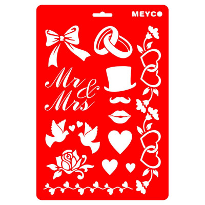 "Sablon plastic ""mr & mrs"" 66010"