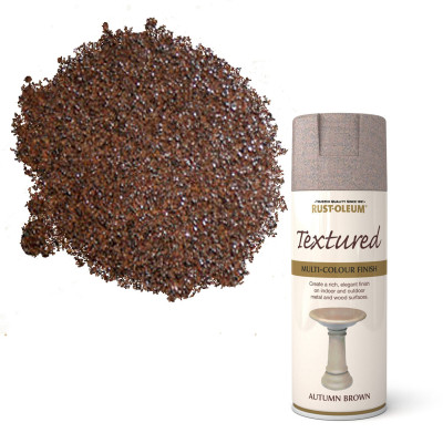 Spray vopsea texturata Autumn Brown 400ml