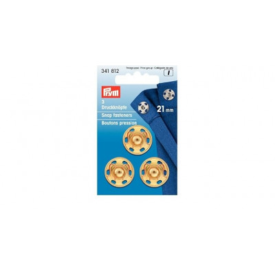 Set capse metalice de cusut 21mm - 341812