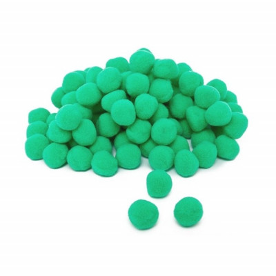 Pom pom verde 10mm set 100bc 364525