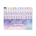 Spectra AD Marker PASTEL 12 Color Set