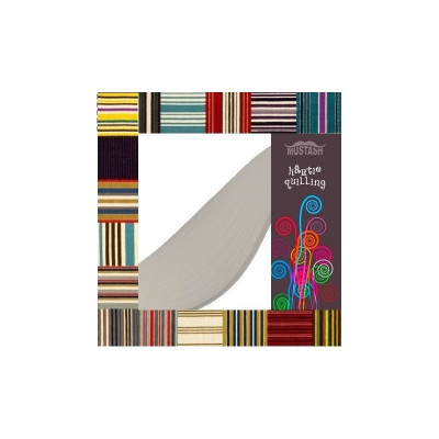 Hartie quilling Mustash 5mm gri deschis