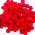 Pom pom rosu 20mm set 50bc