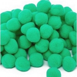 Pom pom verde 30mm set 20bc