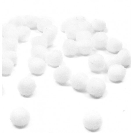 Pom pom alb 20mm set 50bc